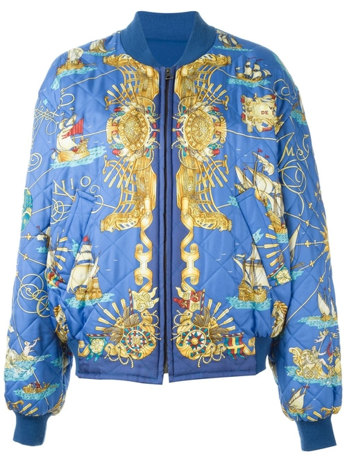 Reversible Bomber Jacket by Hermès Vintage in Keeping Up With The Kardashians