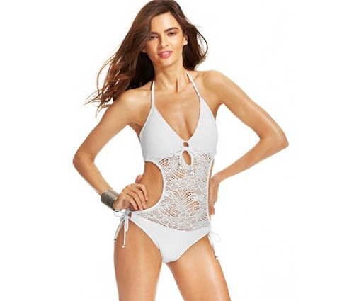 Crochet Illusion Monokini Swimsuit by Polo Ralph Lauren in Self/Less