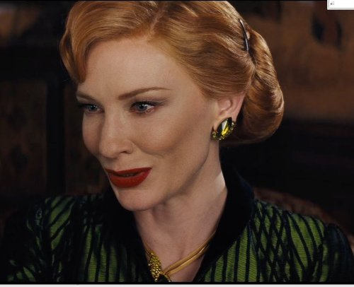 Custom Made Emerald Stone Necklace (Lady Tremaine) by Sandy Powell (Costume Designer) in Cinderella