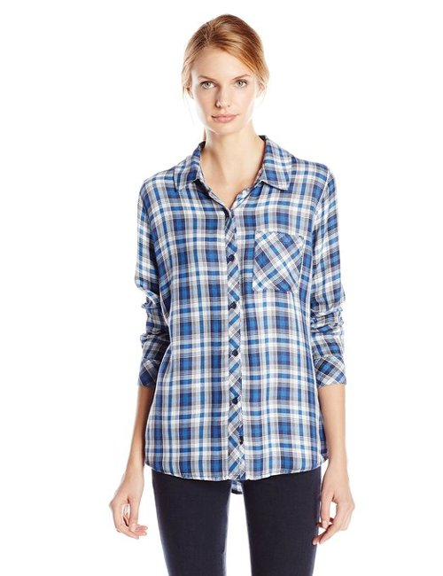 Women's Hunter Plaid Button Down Shirt by Rails in If I Stay
