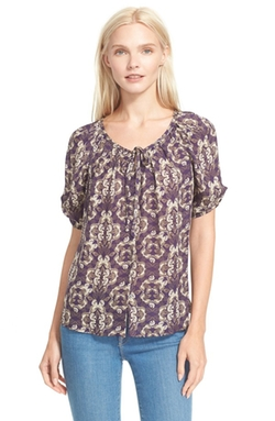 Berkeley Print Silk Blouse by Joie in The Big Bang Theory