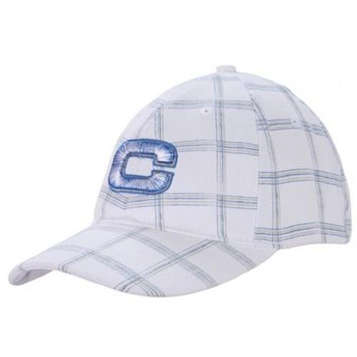 Men's Blue And White Plaid Baseball Hat by Cinch in Neighbors