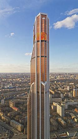 Moscow, Russia by Mercury City Tower in A Good Day to Die Hard