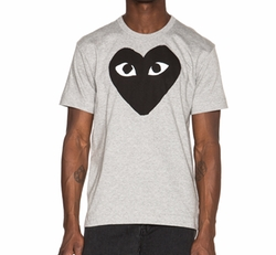 Black Heart T Shirt by Comme des Garçons Play in Ballers