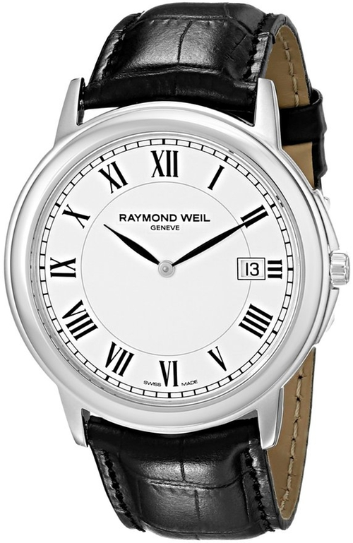 Stainless Steel White Dial Watch by Raymond Weil in American Horror Story - Season 5 Episode 2