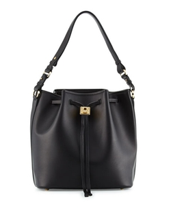 Sansy Leather Bucket Bag by Salvatore Ferragamo in Mistresses