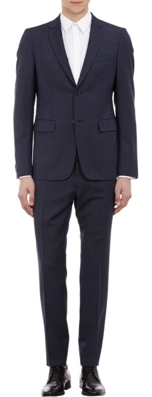 Two-Button Micro-Check Clive Suit by Jil Sander in The Judge