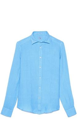 Slim Fit Linen Shirt by Hartford in Little Fockers