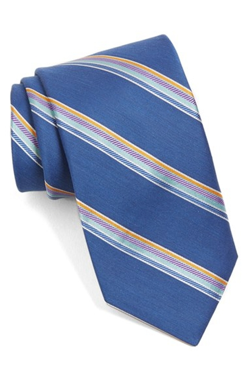 'Seashore Stripe' Silk & Cotton Tie by Ted Baker London in Suits