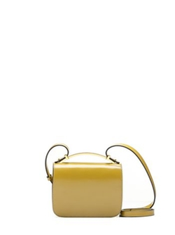 """Sculpture Bag in Shiny Calfskin """"Lime"""" by Marni in The Man from U.N.C.L.E."""