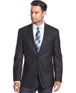 Herringbone Slim-Fit Sport Coat by Calvin Klein in New Year's Eve
