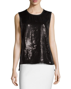 Sequined Tank Top by Laundry by Shelli Segal in Pretty Little Liars