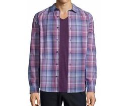 Plaid Long-Sleeve Shirt by Vince in Santa Clarita Diet