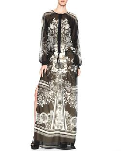 Printed Maxi Caftan Dress by Roberto Cavalli in The Great Gatsby