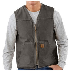 Sandstone V-Neck Vest - Sherpa Lined by Carhartt in The 33