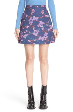 Floral Print A-Line Miniskirt by Carven in Fuller House
