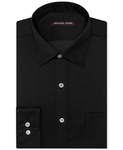 Solid Sateen Dress Shirt by Michael Kors in Spy