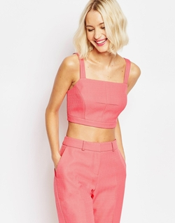 Square Neck Pink Bralet by ASOS in Pretty Little Liars