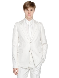 Cotton Wool Blend Twill Jacket by Cerruti 1881 Paris in Rosewood