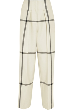 Checked Wool Wide-Leg Pants by 3.1 Phillip Lim in Scream Queens