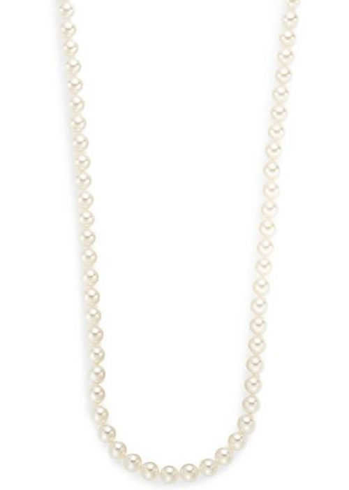 White Pearl & Sterling Silver Necklace by Majorica in Vacation