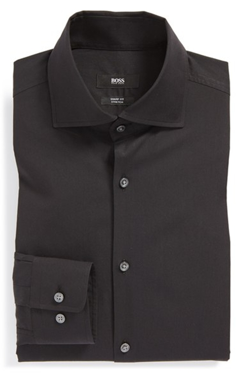 'Miles' Sharp Fit Stretch Dress Shirt by Boss Hugo Boss in Entourage