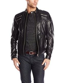 Men's L-Neilor Leather Jacket by Diesel in The Vampire Diaries