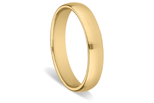 Men's Narrow Domed Comfort-fit Wedding Ring by Ritani in Into the Storm