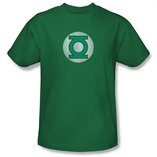 Mens Green Lantern Distressed Logo Mens T Shirt by Simply Superheroes in The Big Bang Theory - Season 9 Episode 19