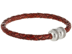 Thick Braided Leather Bracelet by Torino Leather Co. in Hot Pursuit