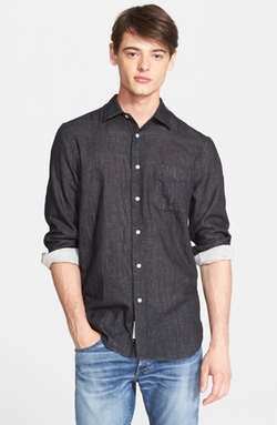 Beach Trim Fit Double Face Sport Shirt by Rag & Bone  in Modern Family