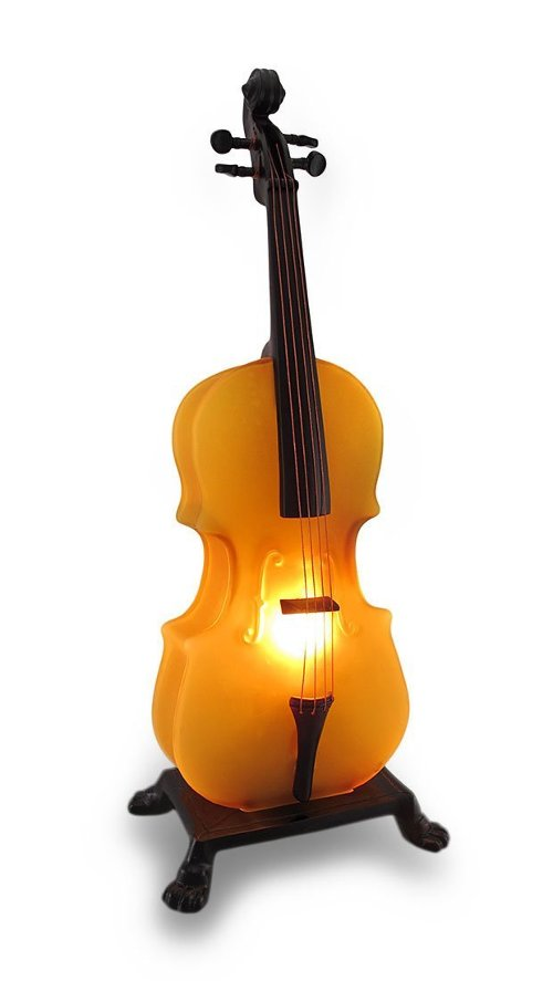 Amber Glass Cello Sculptural Accent Lamp Night Light by Zeckos in If I Stay