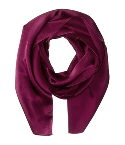 Solid Long & Skinny Silk Oblong Scarf by Echo Design in Quantico