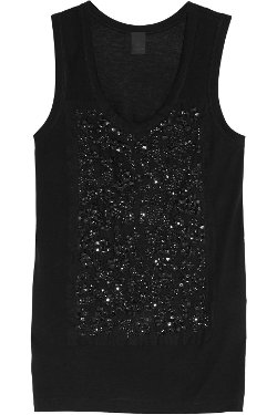 Embellished Jersey Tank Top by Vera Wang in The Other Woman