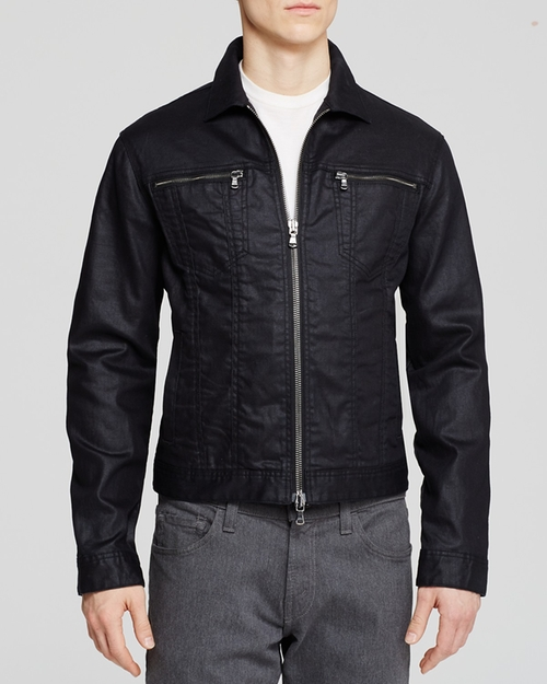 Denim Zipper Jacket by John Varvatos Star USA in The Vampire Diaries - Season 7 Episode 5