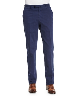 Standard-Fit Brushed Stretch Cotton Pants by Incotex in Ballers