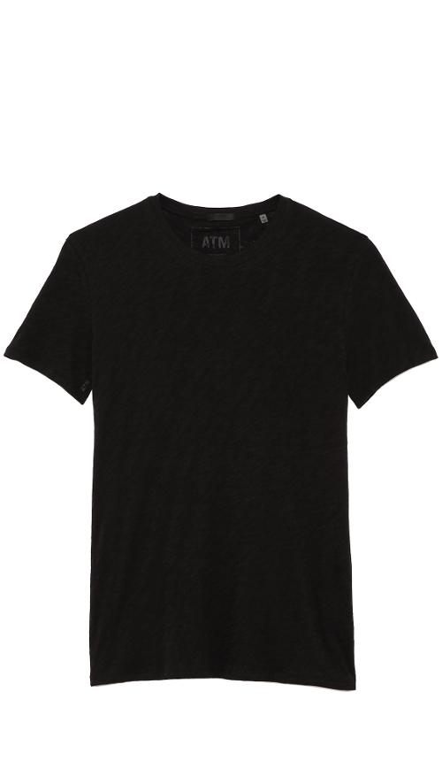 Crew Neck Slub Jersey T-Shirt by ATM Anthony Thomas Melillo in Southpaw