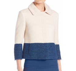 Cropped Colorblock Jacket by Akris Punto in Designated Survivor