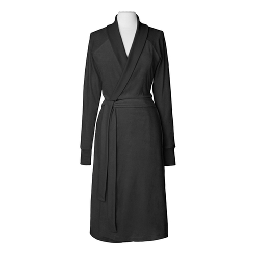 Organic Cotton Velour Robe by Nine Space in Fifty Shades of Grey