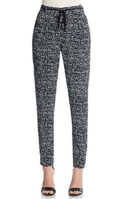 Dot-Printed Pants by Rebecca Taylor in Black-ish