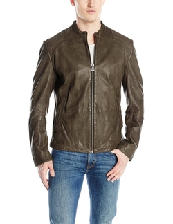 Sheep Leather Jacket by Boss Orange in Quantico