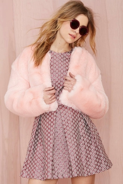 Angel Baby Faux Fur Jacket by Nasty Gal in Scream Queens