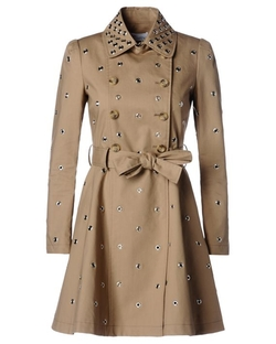 Grommet Mackintosh Trench Coat by Red Valentino in Arrow