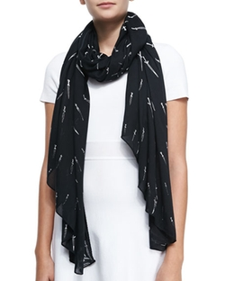 Classic Dagger Wool Scarf by Rag & Bone in Scandal