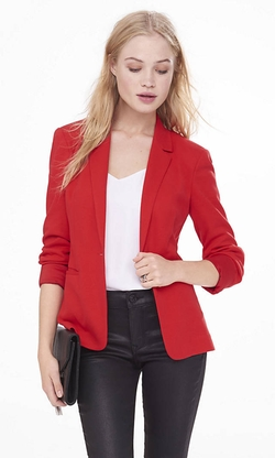 Textured Knit Blazer by Express in Miss You Already