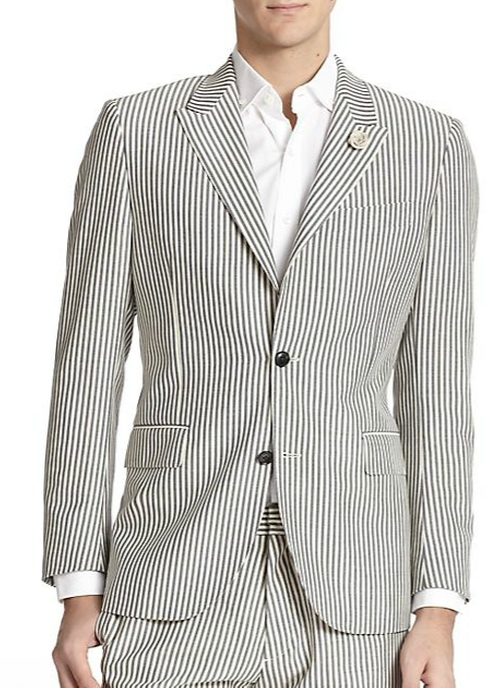 Striped Wool Blazer by Kent and Curwen in The Departed