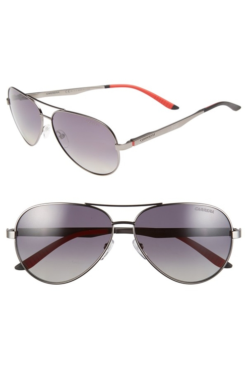 Metal Aviator Sunglasses by Carrera Eyewear in She's Funny That Way