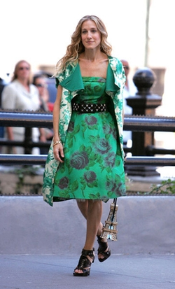 Floral Print Coat by Selected By Patricia Field (Costume Designer) in Sex and the City