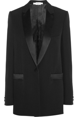 Black Wool Jacket With Satin Details by Givenchy in Keeping Up With The Kardashians
