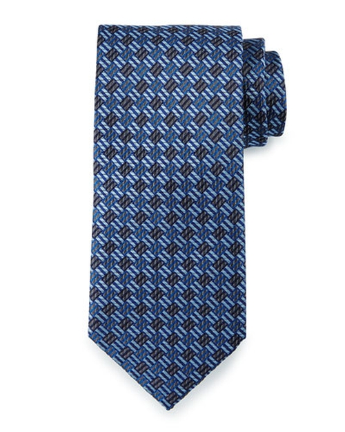 Textured Basketweave Silk Tie by Brioni in Suits